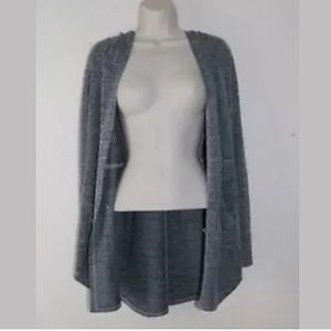Mudd Hooded Cardigan Gray Women's Size L